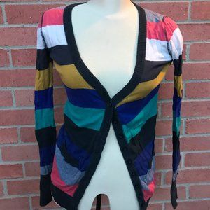 Colourful Striped Cardigan